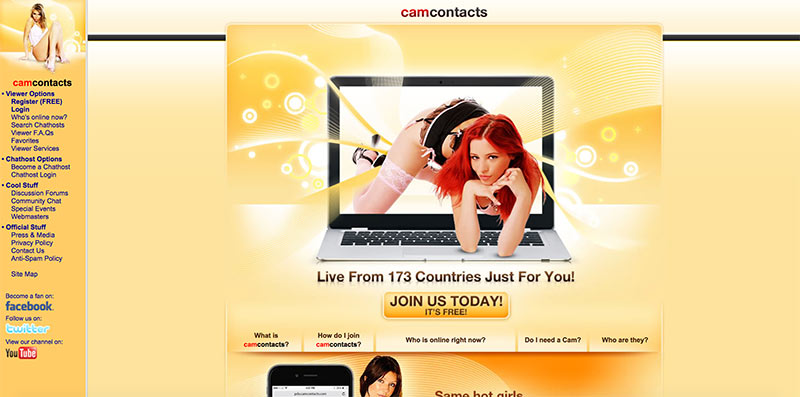 CamContacts home
